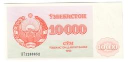 Uzbekistan 10000 Som 1992 UNC From Bundle .SL. - Uzbekistan