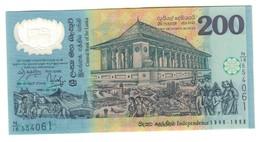 Sri Lanka 200 Rupees 1998 Commemorative UNC From Bundle .SL. - Sri Lanka