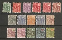 BRITISH VIRGIN ISLANDS 1922 - 1928 WATERMARK MULTIPLE SCRIPT CA SET SG 86/101 LIGHTLY MOUNTED MINT Cat £100 - British Virgin Islands