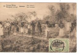 Belgisch Congo Belge Entier Vue 20 Katanga CP 5c + TP Mols 5c C.Lisala 6/1/1919 Non Voyagée PR5244 - Entiers Postaux