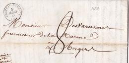 18896# ARDENNES LETTRE Obl CHATEAU PORCIEN 1847 T15 PARIS ROUTE BLEU Pour ANGERS MAINE ET LOIRE - 1801-1848: Precursors XIX