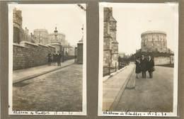 ANGLETERRE - Château De Windsor, Années 30,lot De Deux Photos (photo Format 8,6cm X 6cm) - Aviazione
