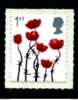 GREAT BRITAIN - 2012  1st CLASS POPPY  SILVER   SELF ADHESIVE   MINT NH - 1952-.... (Elisabetta II)
