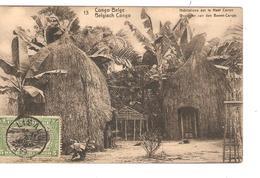Belgisch Congo Belge Entier Vue 13 Habitation Haut Congo CP 5c + TP Mols 5c C.Lisala 6/1/1919 Non Voyagée PR5248 - Entiers Postaux