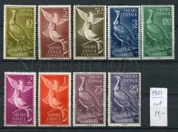 265786 Spanish Sahara 1961 Year MNH Stamps Set BIRDS - Non Classificati