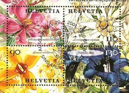 Zu 1029-1032 / Mi 1762-1765 / YT 1693-96 émission Commune SINGAPOUR/SUISSE Obl. 1er Jour SBK 12,- - Used Stamps