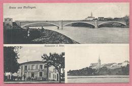 57 - GRUSS Aus MALLINGEN - MALLING - Restauration J. VEBER - Editeur ENGEL - DIEDENHOFEN - Frankreich