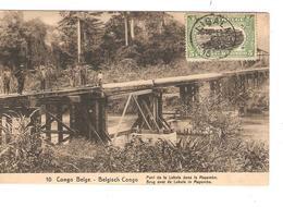 Belgisch Congo Belge Entier Vue 10 Pont Lukula CP 5c + TP Mols 5c C.Lisala 6/1/1919 Non Voyagée PR5251 - Entiers Postaux