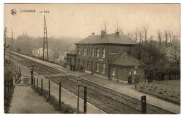 Linkebeek - La Gare - Animée - Circulée - Edit. Moorkens-Croon, Linkebeek - 2 Scans - Linkebeek