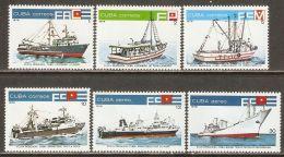 1978 Mi# 2330-2335 ** MNH - Ships / Fishing Fleet - Nuevos