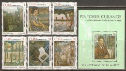 1979 Mi# 2404-2409, Block 60 ** MNH - Paintings By Victor Emmanuel Garcia - Cuba