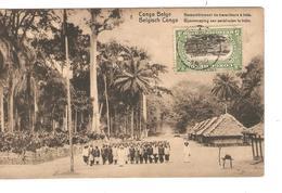Belgisch Congo Belge Entier Vue 8 Irebu CP 5c + TP Mols 5c C.Lisala 6/1/1919 Non Voyagée PR5252 - Entiers Postaux