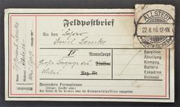 ETIQUETTE FELDPOST ENVOI DE COLIS 1916 Franchise Militaire - Postmark Collection (Covers)