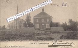 """LILLO-ANTWERPEN """"KRUISWEG-KERK-PASTORIJ""""HOELEN 214 UITGIFTE 06.11.1901 TYPE:2 - Antwerpen"""