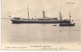 """LILLO-ANTWERPEN """" LILLO FORT-DE PHILIPPEVILLE-CONGOBOOT""""HOELEN 1249 UITGIFTE 07.06.1905 TYPE3 - Antwerpen"""