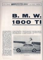 B.M.W. 1800 TI - ESSAI  'LES SPORTS MOTEURS' De PAUL FRÈRE. - Advertising