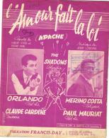 P 7956 - Orlando     Merino  Costa   L'Amour Fait La Loi     Apache   (Shadows ) - Vocals