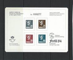 Stampexhibition Frefil 84. Nasjonal Frimerkeutstilling Fredrikstad  Norway  # 07569 - Philatelic Exhibitions