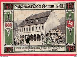 Allemagne 1 Notgeld 50 Pfenning Stadt Hamm Dans L 'état Lot N °1787 (RARE) - [ 3] 1918-1933 : Repubblica  Di Weimar