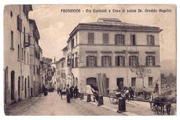 Frosinone - Via Garibaldi E Casa Di Salute Dr. Arnaldo Angelini - 1913. - Frosinone