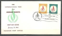 PAKISTAN FDC 1968 INTERNATIONAL YEAR OF HUMAN RIGHTS - Pakistan