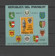Paraguay 1976 Austria 1000 Year S/s MNH - Paraguay