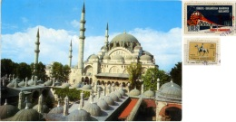 TURKYE  TURKIYE  TURCHIA  ISTANBUL  Suleymaniye Camii  Mosque Moschea  Nice Stamps Train Theme - Turchia