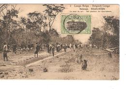 Belgisch Congo Belge Entier Vue 2 Katanga Elisabethville CP 5c + TP Mols 5c C.Lisala 6/1/1919 Non Voyagée PR5255 - Entiers Postaux