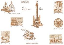 Capitales Européennes.  Rome.  Meilleurs Vɶux 2003  # 860 # - Old Paper
