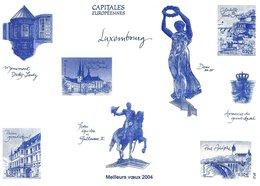 Capitales Européennes.  Luxembourg   Meilleurs Vɶux 2004   # 870 # - Old Paper