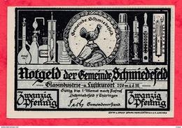 Allemagne 1 Notgeld 20 Pfenning  Schmiedefeld Dans L 'état  Lot N °1794 (RARE) - [ 3] 1918-1933 : Repubblica  Di Weimar