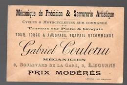 Libourne  (33 Gironde) Carte GABRIEL COULEAU Mécanique De Précision  (PPP12701) - Advertising