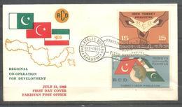 PAKISTAN FDC 1965 REGIONAL CO-OPERATION FOR DEVELOPMENT RCD - Pakistan