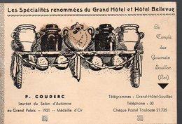 (Souillac 46 Lot) GRAND HOTEL ET HOTEL BELLEVUE Carnet De Spécialités (PPP12705) - Advertising