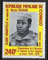 "Congo YT 844A "" Marien Ngouabi, Fondateur Du P.C.T. "" 1989 Neuf** - Congo - Brazzaville"