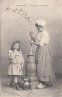 LA SARTHOISE - Fabrication Du Beurre, Gel.1903 - Künstlerkarten