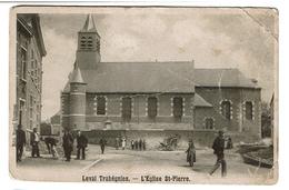 Leval Trahégnies - L'Eglise St Pierre  - Carte Abîmée -- 2 Scans - Binche