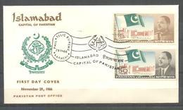 PAKISTAN FDC 1966 NEW CAPITAL ISLAMABAD - Pakistan