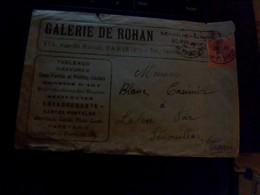 Publicité Enveoppe Publicitaire Galerie  De Rohan Rue De Rivoli A Pariis - Advertising