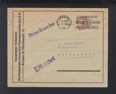 Dt Reich Drucksache Breslau 1924 - Briefe U. Dokumente