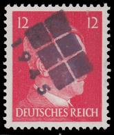 Emissioni Locali - Effige Di Adolf Hitler - 12  P. Rosso Carminio (1941/42)  - Soprastampato Faccia Hitler Deturpata - Germania