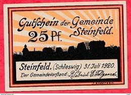 Allemagne 1 Notgeld  25 Pfenning Steinfeld état  Lot N °1803 - [ 3] 1918-1933 : Repubblica  Di Weimar