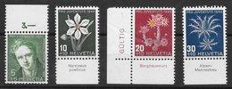 Fleur - Suisse N°433 à 436 1946 ** - Autres
