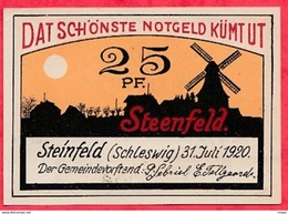 Allemagne 1 Notgeld  25 Pfenning Steinfeld état  Lot N °1805 - [ 3] 1918-1933 : Repubblica  Di Weimar