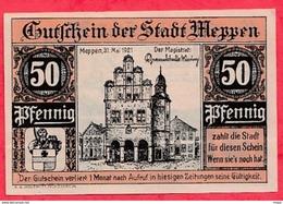Allemagne 1 Notgeld  50 Pfenning Meppen état  Lot N °1806 - [ 3] 1918-1933 : Repubblica  Di Weimar