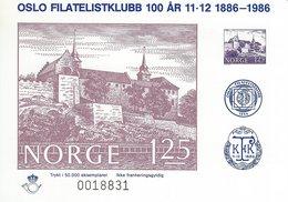 Norway - Oslo Filatelistklubb 100 År   1886-1986. # 619 # - Old Paper