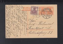 Dt. Reich GSK Mit ZuF Baden-Baden 1921 An Feist-Belmont Frankfurt Am Main - Deutschland