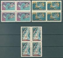 NORTH VIETNAM - NO GUM  - 1962 - SPATIAL CONQUEST VOSTOK - Yv 303-305 Mi 240-242 - Lot 16864 BLOC OF 4 - Viêt-Nam