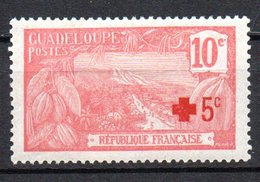 1/ Colonies Française Guadeloupe N° 75   Neuf  X   MH  , Cote : 7,00 € - Nuevos