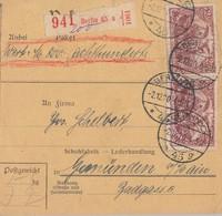 DR Paketkarte Mif Minr.114,2x 115 Berlin 2.12.20 - Deutschland